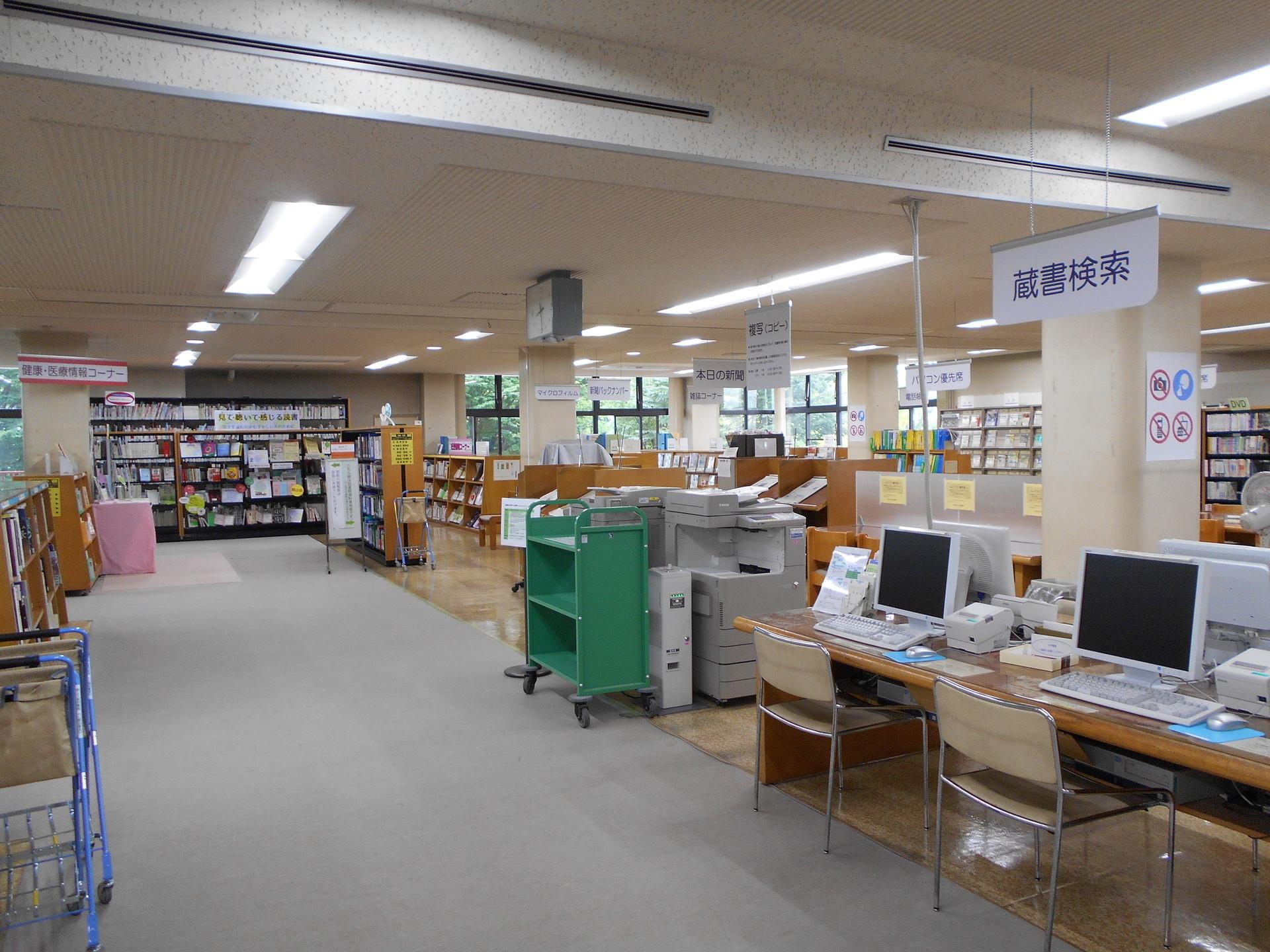 久喜図書館の耐震補強等の工事が終了しました!: 埼玉県立図書館ブログ